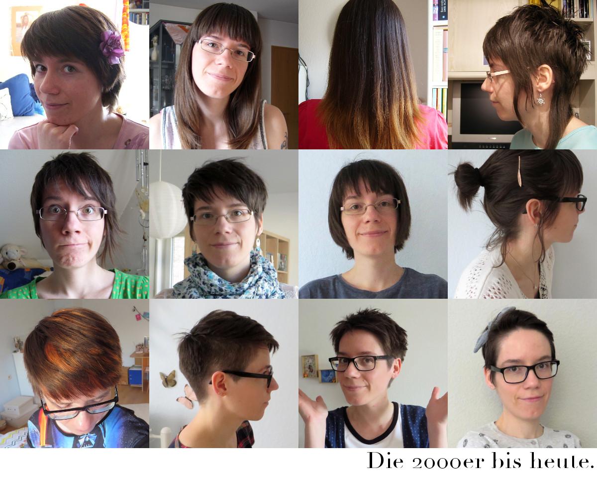 stark verknotete haare